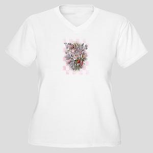 1950 Women's Plus Size V-Neck T-Shirt