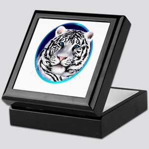 Framed White Tiger Face Keepsake Box
