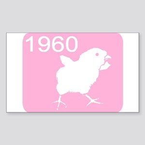 CHICK YEAR Rectangle Sticker