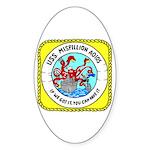 USS Mispillion (AO 105) Oval Sticker (50 pk)