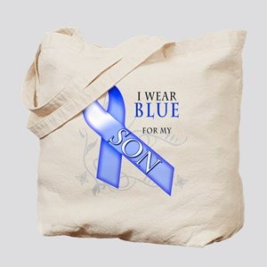 I Wear Blue for my Son Tote Bag