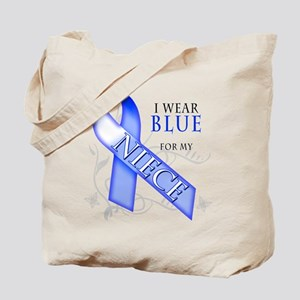 I Wear Blue for my Niece Tote Bag