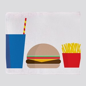 Fast Food Meal Throw Blanket