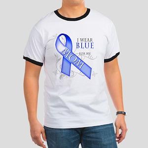 I Wear Blue for my Mom Ringer T