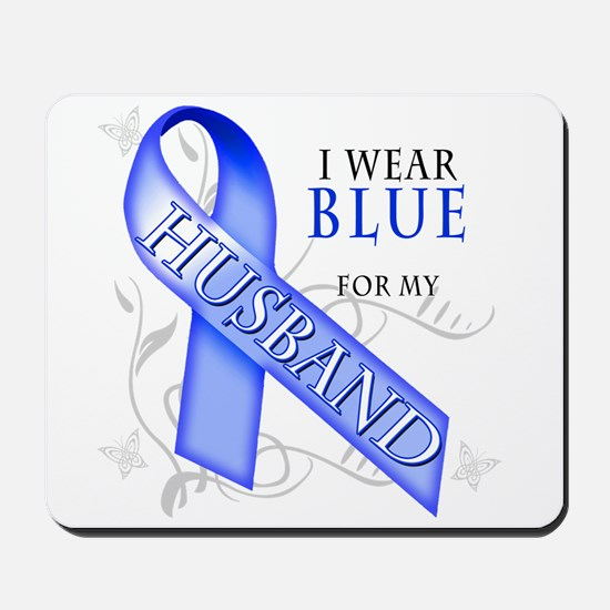 I Wear Blue for my Husband Mousepad