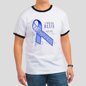 I Wear Blue for my Husband Ringer T