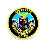 "USS Platte (AO 24) 3.5"" Button (100 pack)"