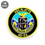"USS Platte (AO 24) 3.5"" Button (10 pack)"