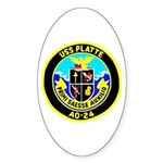 USS Platte (AO 24) Oval Sticker (10 pk)