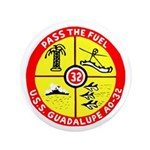 "USS Guadalupe (AO 32) 3.5"" Button (100 pack)"