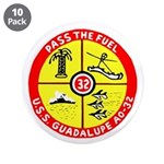 "USS Guadalupe (AO 32) 3.5"" Button (10 pack)"