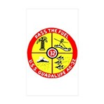 USS Guadalupe (AO 32) Rectangle Sticker 10 pk)