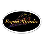 Expect Miracles Sticker (Oval)