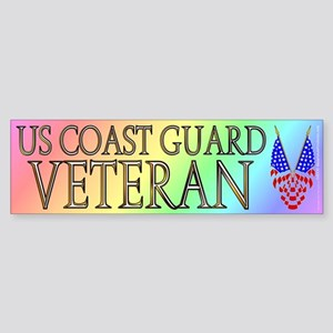 US Coast Guard veteran (bumper sticker 10x3)