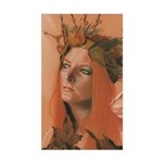 Autumn Queen Fairy Rectangle Sticker
