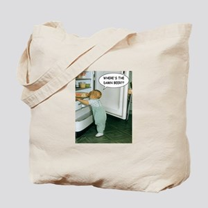 Where's The Damn Beer Tote Bag