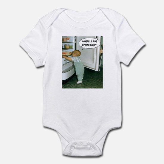 Where's The Damn Beer Infant Bodysuit