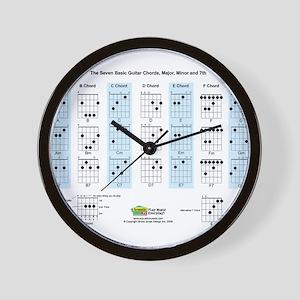 Basic Guitar Chords Wall Clock