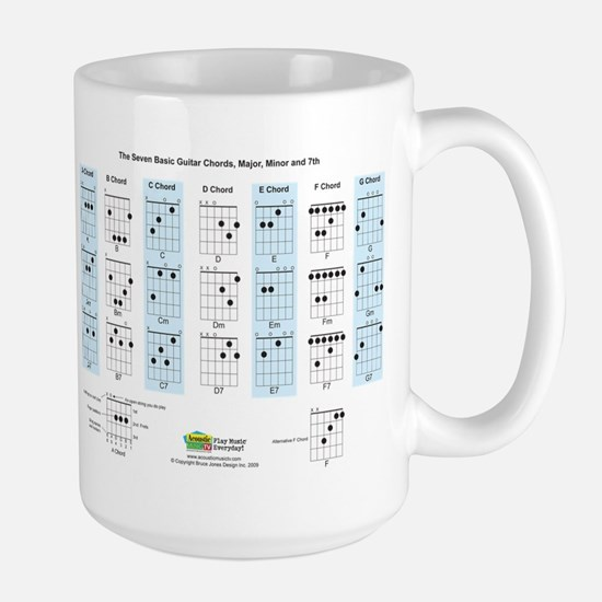Basic Guitar Chords Large Mug