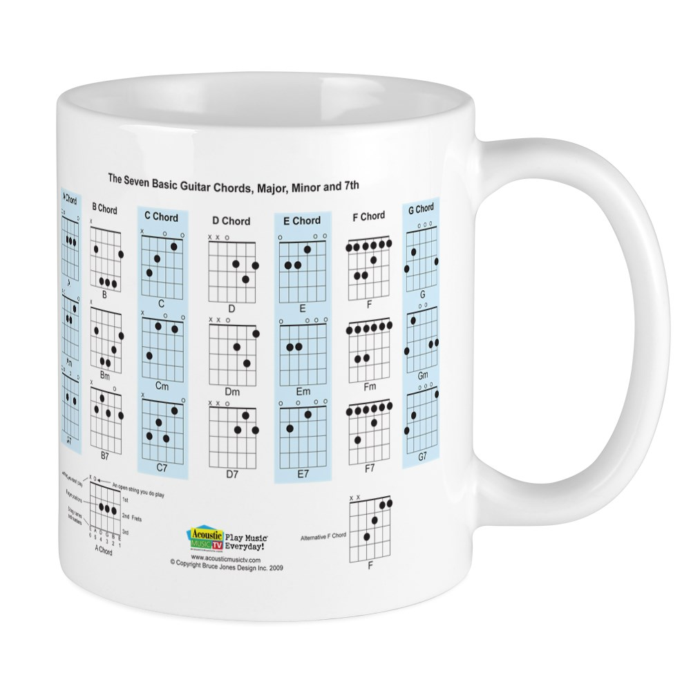 Details About Cafepress Basic Guitar Chords Mug 11 Oz Ceramic Mug 420913660