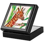 Giraffe Themed Keepsake Box