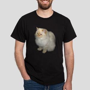 Zeus the White Himalayan Cat Black T-Shirt