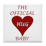 the Official Hug Tile Coaster