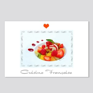 Dessert and French cuisine Postcards (Package of 8