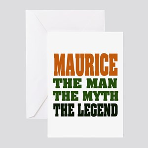 MAURICE - the man, the legend Greeting Cards (Pk o
