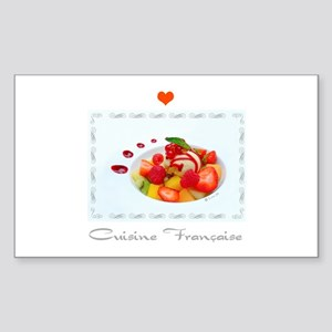 Dessert and French cuisine Rectangle Sticker