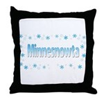Minnesnowta Throw Pillow