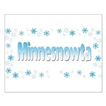Minnesnowta Small Poster