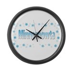 Minnesnowta Large Wall Clock