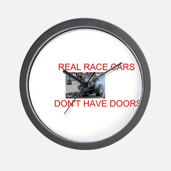 REAL RACE CARS Wall Clock