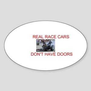 REAL RACE CARS Oval Sticker
