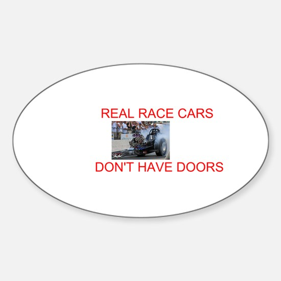REAL RACE CARS Oval Decal