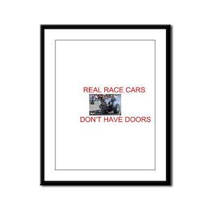 REAL RACE CARS Framed Panel Print