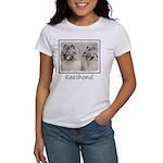 Keeshonds Women's Classic White T-Shirt
