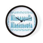 Minneapolis Minnesnowta Wall Clock