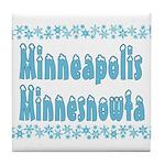 Minneapolis Minnesnowta Tile Coaster