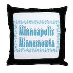 Minneapolis Minnesnowta Throw Pillow