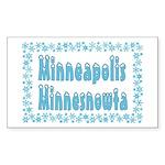 Minneapolis Minnesnowta Rectangle Sticker
