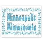 Minneapolis Minnesnowta Small Poster