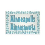 Minneapolis Minnesnowta Rectangle Magnet (10 pack)