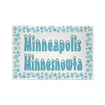 Minneapolis Minnesnowta Rectangle Magnet