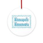 Minneapolis Minnesnowta Ornament (Round)