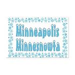 Minneapolis Minnesnowta Mini Poster Print