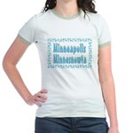 Minneapolis Minnesnowta Jr. Ringer T-Shirt