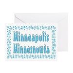 Minneapolis Minnesnowta Greeting Cards (Pk of 20)