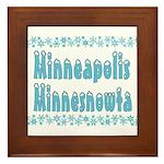 Minneapolis Minnesnowta Framed Tile